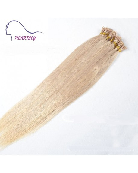 """HEARTLEY 18"""" Blonde Hair Remy Brazilian Human Hair Straight 100 Strands I Tip Extensions"""