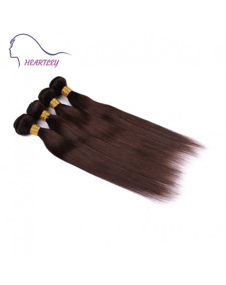 22 Inch Dark Brown Brazilian Remy Human Hair Weave Straight Hair Extensions 4 Bundles