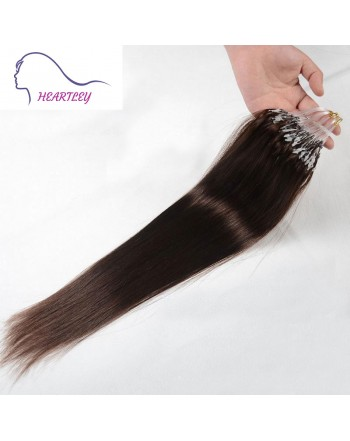 Dark Brown Micro Loop Hair Extensions
