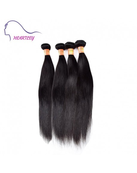 20 Inch Peruvian Remy Hair Silky Straight Hair Weaves Black Hair Extensions 4 Bundles