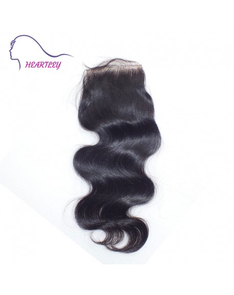 """Free Part Body Wave 4""""*4"""" Brazilian Virgin Hair Lace Closure with Baby Hair"""