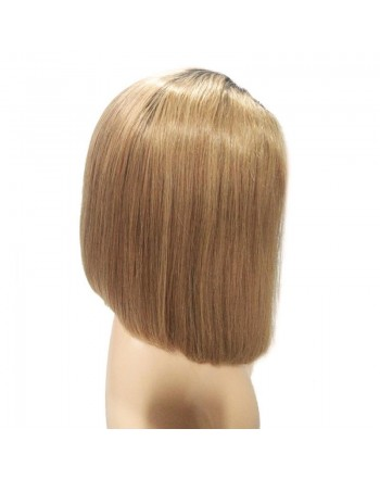 150 Density Brazilian 1B/27 Ombre Remy Human Hair Lace Front Bob Wigs
